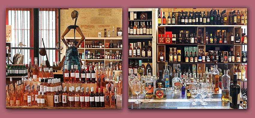 Nouvelles et actualités de l'esprit des vins Léognan exemples de vitrines