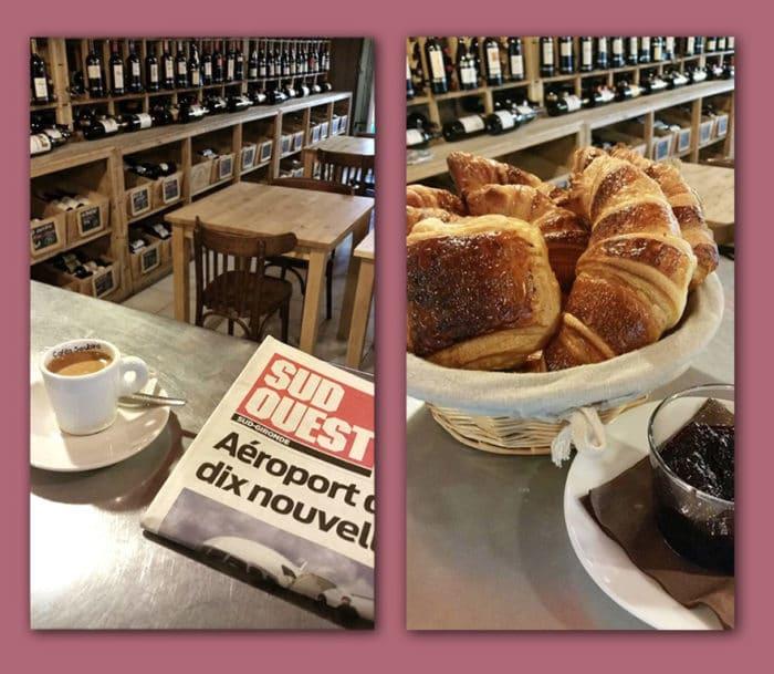 petit déjeuner à l'esprit des vins La Brède bar à vin cave à vin et spiritueux caviste