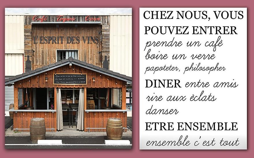 vins et spiritueux l'esprit des vins La Brède caviste cave à vins et spiritueux l'entrée