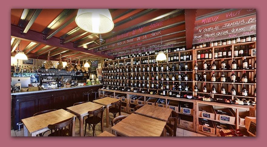 vins et spiritueux l'esprit des vins La Brède caviste cave à vins et spiritueux l'intérieur