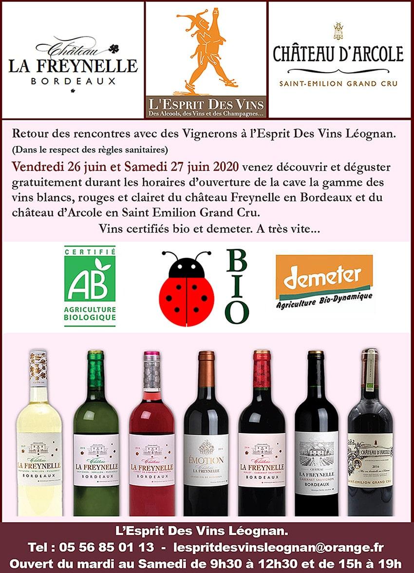 Nouvelles et actualités de l'esprit des vins Léognan rencontre juin 2020