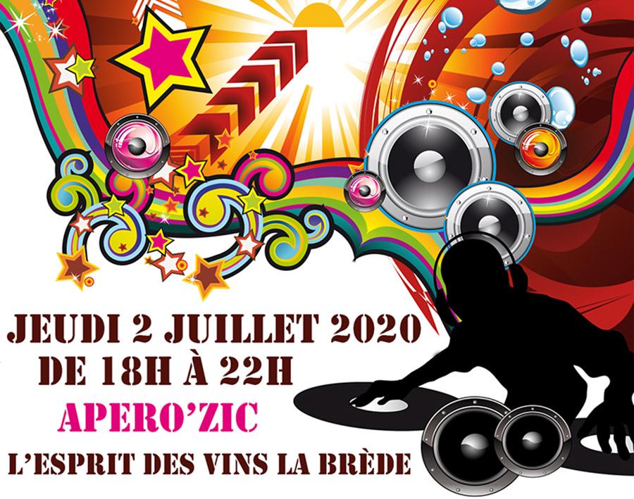 News de l'esprit des vins La Brède apérozic juillet 2020