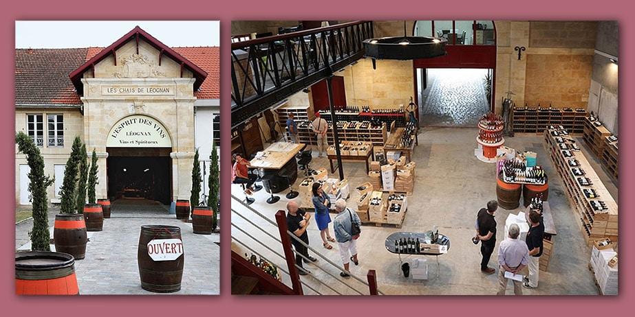 spiritueux et vins l'esprit des vins léognan intérieur et exterieur caviste