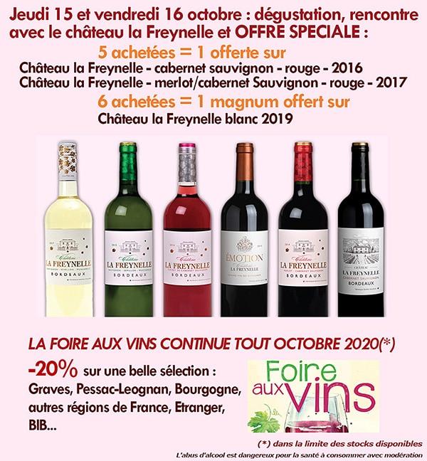 Nouvelles et actualités de l'esprit des vins Léognan offre Freynelle