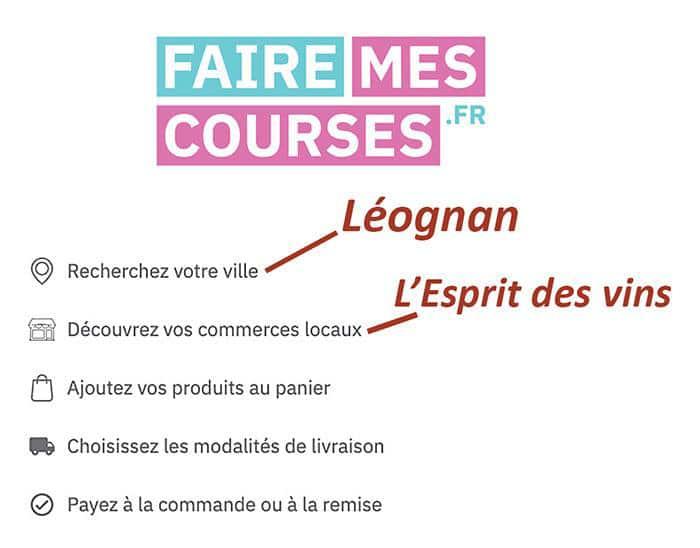 Nouvelles et actualités de l'esprit des vins Léognan faire mes courses
