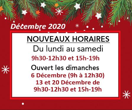 News de l'esprit des vins La Brède horaires de décembre 2021