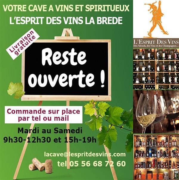 News de l'esprit des vins La Brède horaires novembre 2021