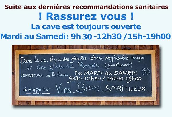 News de l'esprit des vins La Brède octobre 2020