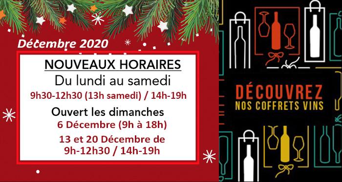 Nouvelles et actualités de l'esprit des vins Léognan horaires de décembre 2020