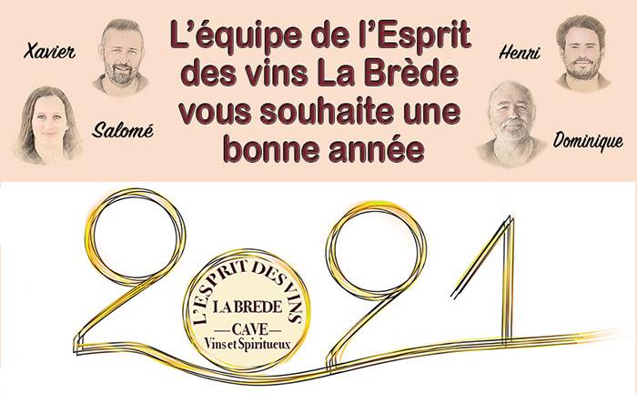 News de l'esprit des vins La Brède voeux 2021