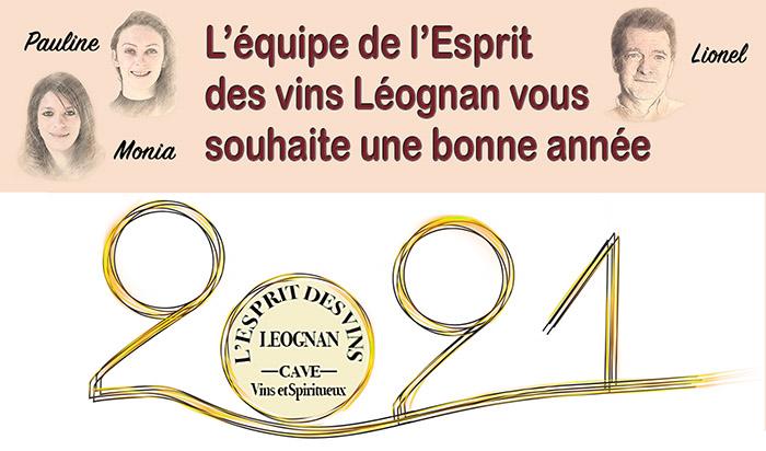 Nouvelles et actualités de l'esprit des vins Léognan voeux 2021